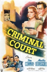 Criminal Court 1946 DVD - Tom Conway / Martha O'Driscoll